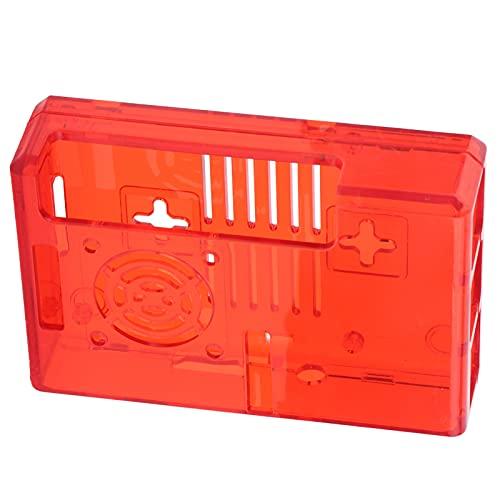 Caiqinlen Carcasa para Raspberry Pi, Estilo conciso y fácil de Usar con Tornillos Funda Protectora para Raspberry Pi Carcasa Protectora Caja multifunción para Productos electrónicos para Hombre(Rojo)