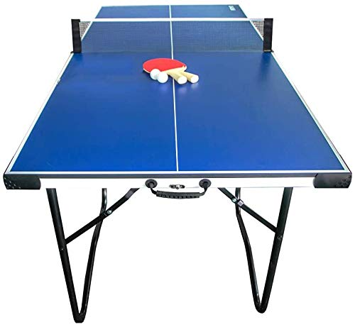 IFOYO 6ft Table Tennis Table, Foldable Portable Strong MDF Plate Ping Pong Table Portable Easy Quickly Installation Indoor Game Table for Indoor and Outdoor