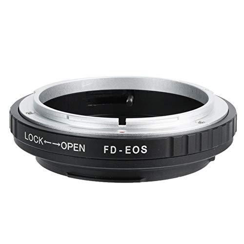 Vipxyc Anillo Adaptador FD, Control Manual Completo Adaptador FD-EOS, Adaptador EOS Adecuado para Objetivos con Montura FD de Canon y para cámaras réflex Digitales Canon EOS