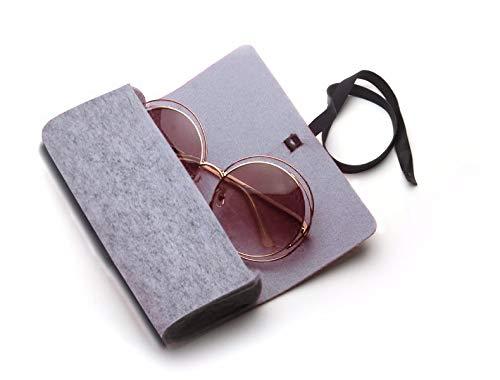 Tuzi Qiuge Sonnenbrillen Fall Felt Schutzhülle for Sonnenbrillen/Brillen QiuGe (Color : Grey)