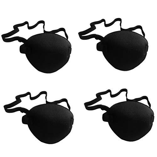 Supvox Amblyopie Augenklappen Medizinische Augenmaske Faul Augen Flecken für Erwachsene Kinder Strabismus Lazy Eye 4 Stück