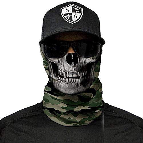 A.S.98 SA Fishing Company Face Shield Sturmhaube (Green Military Camo Skull)