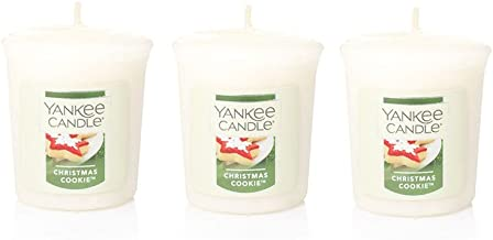 3 شموع Yankee Candle Christmas COOKIE Sampler نذري 50 مل لكل منها