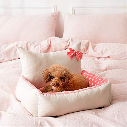 GSDJU Hundebett Hundebett kleines Katzennest Rutschfestes und Nicht klebriges maschinenwaschbares 50 * 12 cm rundes Princess-Modell in Pink