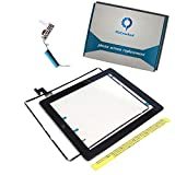 Fixcracked Touch Screen Replacement Parts Digitizer Glass Assembly for Ipad 2 + WIFI Antenna Cable(Black