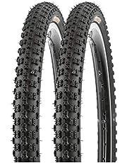 P4B 2 x 20 inch kinderbanden 57-406 (banden 20 x 2.125) voor mountainbike en BMX | uitstekend geschikt voor weg-, grind- en boswegen | fietsbanden 20 inch