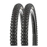 P4B | 20 Zoll Fahrradreifen 57-406 (20 x 2.125) für Mountainbike und BMX | In Schwarz (B) 2X Reifen