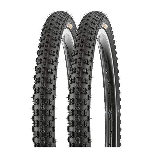 P4B | 2X 20 Zoll Kinderreifen | 57-406 | 20 x 2.125 | Fahrrad Reifen für Mountainbike und BMX | Hervorragend geeignet für Straßen-, Schotter- und Waldwege | In Schwarz