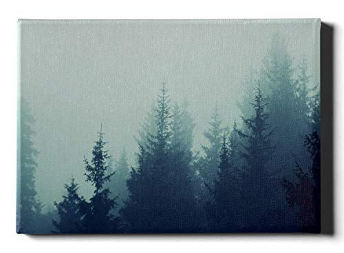 JIUCHUAN Moderne Wandfarbe Fantasy Magic Fog Wald Bergbäume Haus Wanddekoration 30 x 40 cm (12 x 16 Zoll) dekorative Wandfarbe Wandkunstwerke Bilder hängen im Wohn- oder Schlafzimmer nach Hause