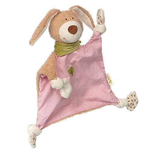 SIGIKID 38995 Schnuffeltuch Hase Green Mädchen Babyspielzeug empfohlen ab Geburt rosa