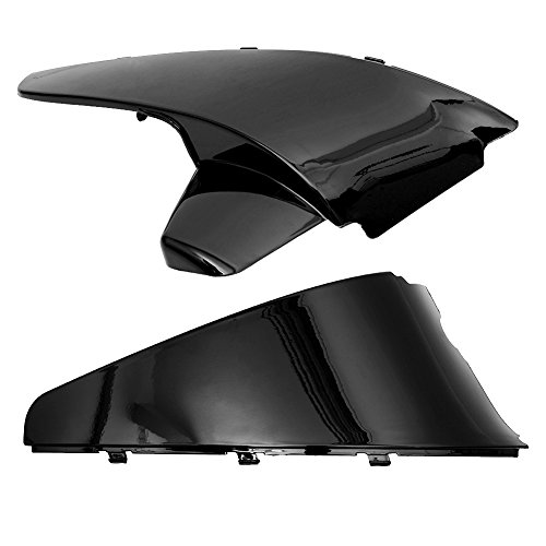 Sedeta Coperchio Batteria Faring Side Nero ABS di plastica Laterale della Batteria Protezione della Copertura di stampaggio Trims per Shadow VT600 VLX 600 STEED400 1988-1998