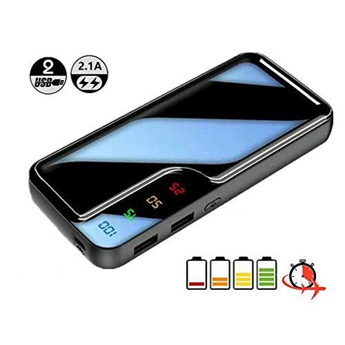 Powerbank, draagbare oplader 30000mAh mobiele powerbank met grote capaciteit en 2 USB-poorten, led-displayverlichting voor externe mobiele telefoon