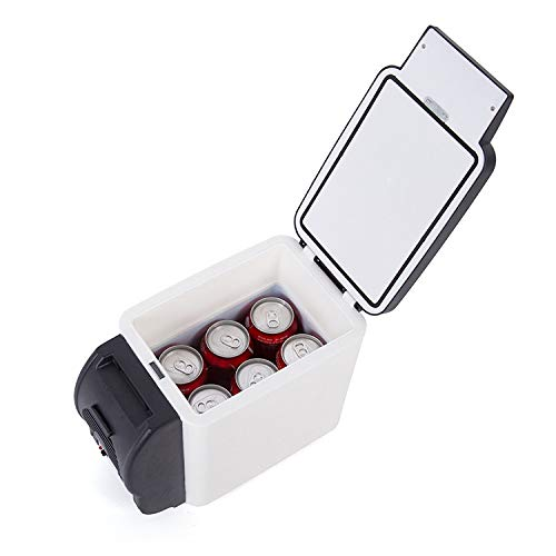 Kühlschrank Tragbar Kühlschrank,Mini Auto Eisfach,Familienauto Dual Use Kühlschrank,Passen Reise Zuhause Gefrierschrank Geräuscharm/Schwarz / 6l