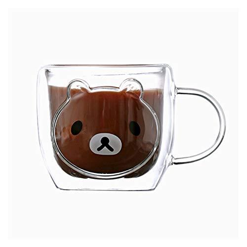 Taza de desayuno de leche de 250 ml Linda capa de café de la taza de café con la manija Jsmhh