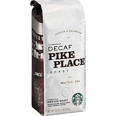 Starbucks Pike Place Decaf Whole Bean Coffee