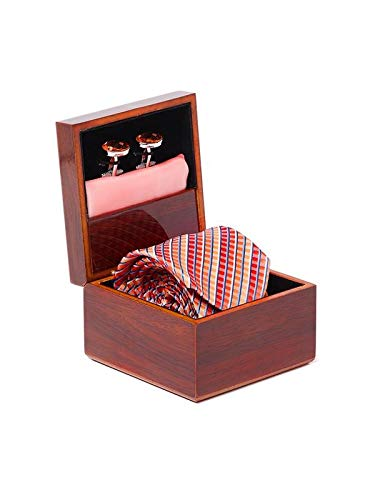 Alvaro Castagnino Pink::Orange Colored Accessory Gift Set for Men
