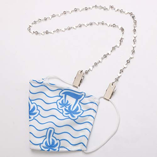 Face Mask Clip Holder Chain Necklace Strap Decorative Fashion Leash, Holds Your Face Mask Around Your Neck
