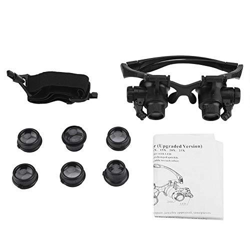 Drgger Juweliere Lupe - Portable Eye Jewelry Uhr Reparatur 10X 15X 20X 25X Vergrößerungsgläser Lupe mit LED-Leuchten.