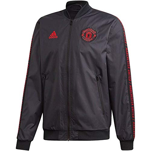 adidas Performance Herren Fußball-Jacke Manchester United Anthem schwarz/rot (701) M
