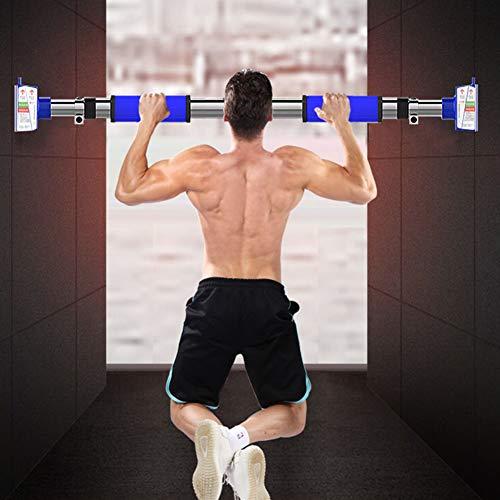 WJYHXW optrekbeugel voor deur, geen schroeven, montage deurwagen, optrekstang met locking-mechanisme, fitness workout bar hoofd-gymnastiekuitrusting, 92-125 cm, instelbare breedte