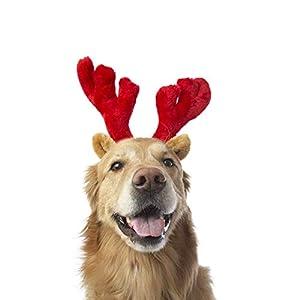 SEALEN Costume de Noël pour Animaux de Compagnie en Forme de Bandeau en Bois de Renne pour Chiens et Chats, Costume Accessoire pour la Partie de Cosplay de Noël