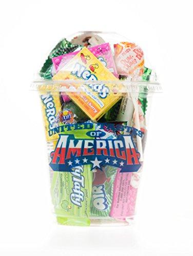 Holland Plastics Original Brand Vereinigte Tastes of America- USA Klassik Cup voll von spannenden amerikanischen Süßigkeiten! EIN einzigartiges Geschenk