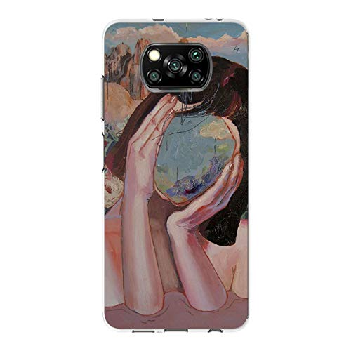 6City8Ni Girls Gel für Xiaomi Poco X3 NFC,Anti-Scratch Silikon Flexible Hülle TPU Bumper Made Easy with Comfortable On-The-go Cover Colorful Cosmos Fairy Cartoon