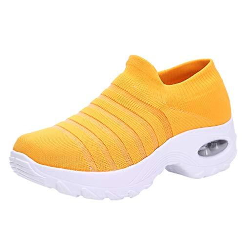 Vovotrade Slip On Sneakers dames sportschoenen loopschoenen comfortabele turnschoenen Air lichte hoogte verhogen mesh sokken schoenen outdoor wandelschoenen