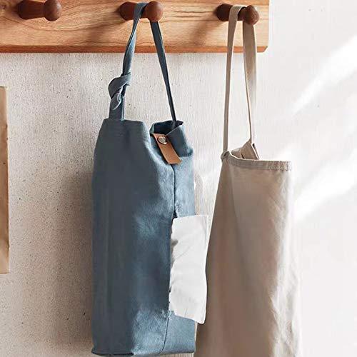 JYeew ティッシュケース 吊り下げ 壁掛け 居間車内キッチンバスルーム用 ティッシュボックス 約12X1X28cm (ライトブルー)