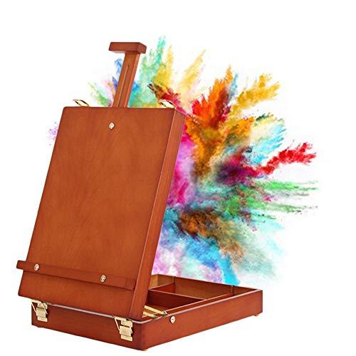Easels koffer beukenhout kunst benodigdheden schets outdoor draagbare opslagdoos schilderij rek HUYP