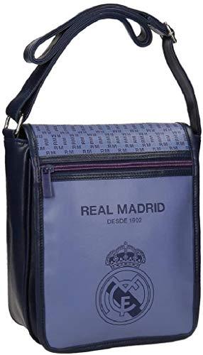 Real Madrid Blue Rm Sac bandoulière, 24 cm, 2.88 liters, Vio