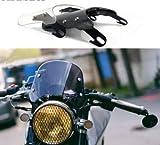 HYSJLS 5-7 Pulgadas Motorcycle Retro Cafe Racer Faro Light Lightshield Visor Fit For Honda Yamaha XJR 1300 Suzuki GSX 1400 Royal (Color : White)