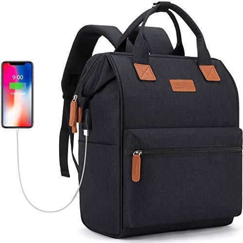 Rucksack Damen | Weit Geöffnetes Letop Rucksack mit USB Ladeanschluss | für Uni Reisen Freizeit Job | mit Laptopfach & Anti Diebstahl Tasche (15.6
