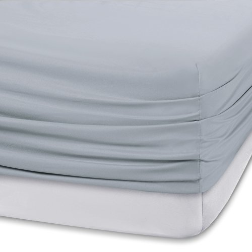 """Comfort Spaces Coolmax Moisture Wicking Set Super Soft, Fade Resistant, 17"""" Deep Pocket, All Around Elastic Warm Weather Cooling Sheets for Night Sweats, King, Grey 4 Piece"""