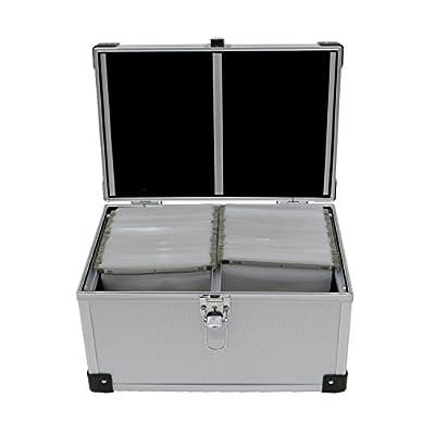 Oypla 300 Disc Aluminium CD DVD Game Storage Flight Case DJ Carry Box