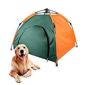 Lifeunion Pop Up Pet Tent House Portable Waterproof Dog Cat Camping Beach Tent with Innovative Instant Set up Centre Hub Design (Green)