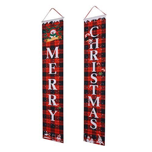 Milisten Pancartas de Puerta de Navidad Feliz Navidad Hogar Copletes Colgantes Carteles...