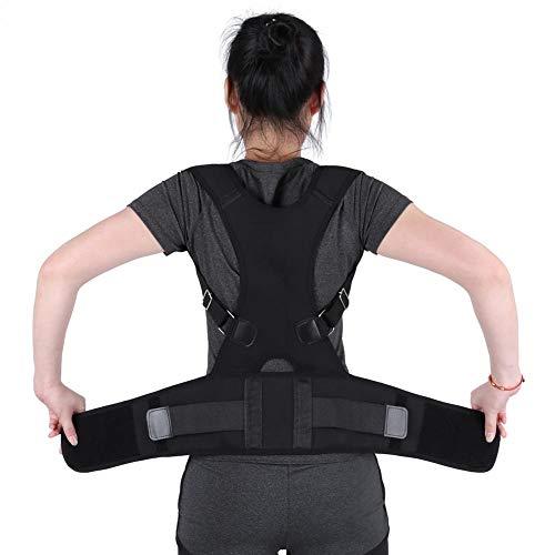 Filfeel Corrector de Postura, Corrector Postura para Hombre y Mujer, Espalda Ajustable Corrector de Soporte Lumbar Postura de la Venda del Hombro Cinturón Correcto(XL-Negro)