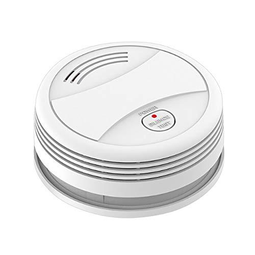Tuya Wifi Smart rökdetektor Batteri Brandlarm Rökdetektor med LED-indikator och tystnadsknapp för hemsäkerhet, INGEN HUB KRÄVS