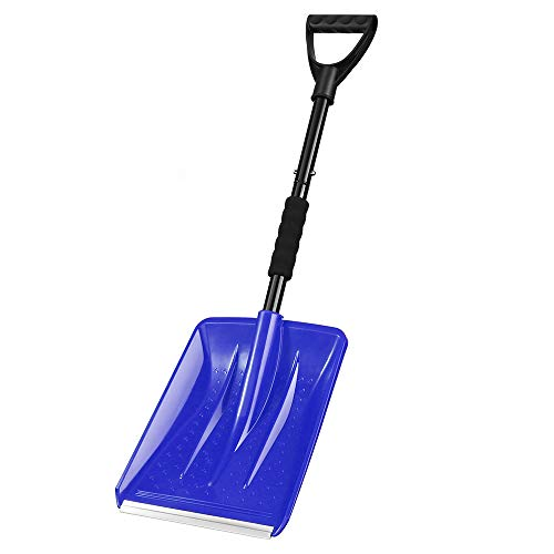 Buy IPSXP Snow Shovel,Detachable Plastic Emergency Snow Shovel (31.5in/80cm) with Stainless Steel Po...