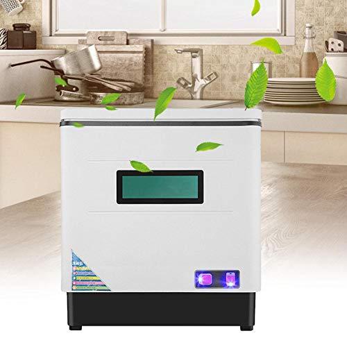 Mini Lave-vaisselle Lave-vaisselle de Table, Lavage 360°, Autonome, Séchage UV + Haute Température + Moyenne Température, Grille à Vaisselle Amovible, Grande Capacité, Économie d'eau
