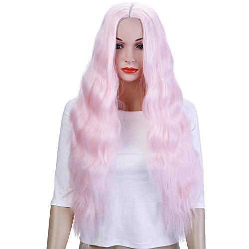 26 '' Perruques De Cheveux Bouclés Crépus Longs Pour Les Afro-Américains Perruques Synthétiques Résistantes À La Chaleur Pour Les Femmes Rose