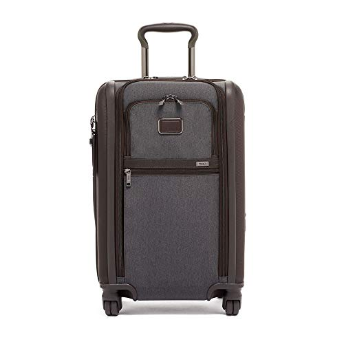 TUMI - Alpha 3 International Dual Access 4 Wheeled Carry-on Luggage - 22 Inch Rolling Suitcase for Men and Women - Anthracite