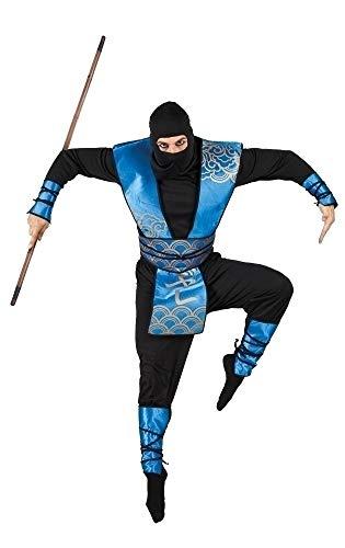 Boland 83559 - Erwachsenenkostüm Ninja Royal, Größe 54 / 56