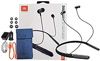 JBL Duet ARC Wireless in-Ear Neckband Headphones with Siri/Google Voice Assistant and Wall/Car Charger Gel (Renewed)