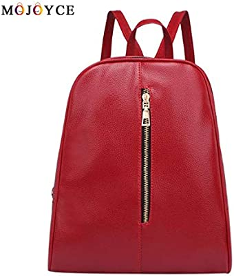 Designer Women PU Leather Backpack Teenagers Girls Zipper Simple Solid School Preppy Students Shoulder Bagpack Mochila