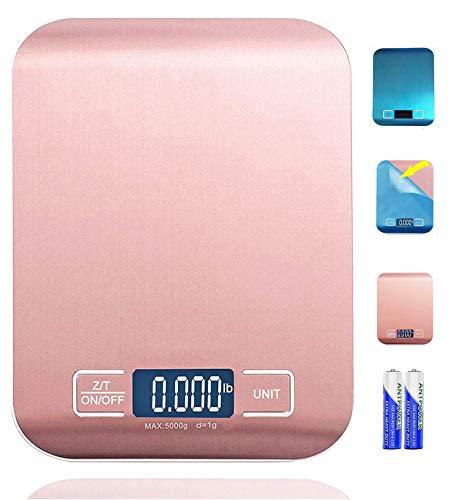 Báscula digital de cocina multifunción para carne con pantalla LCD para hornear cocina, 5 kg con 1 g de precisión para fácil escalado por Vicsun
