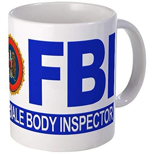 Taza de 11 onzas Taza del inspector del cuerpo femenino del FBI ~ AQ1