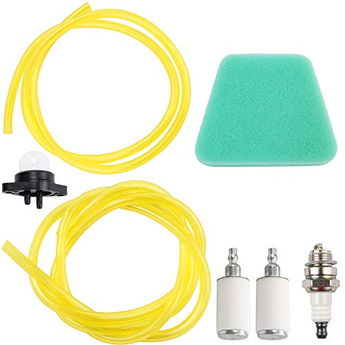 530037793 Air Filter 530095646 Fuel Filter with 6616 6617 Fuel Line for Poulan 2150 1950 2025 2075 Chainsaw Craftsman 188-513 530071835 Primer Bulb Spark Plug Tune Up Kit