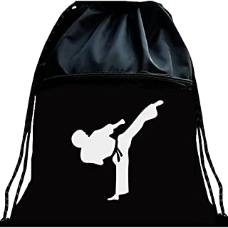 Black Luminous Tae Kwon Do Bag Martial Arts Mesh Bag Portable Fitness Double Shoulder Backpack Large Capacity
